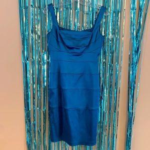Blue Satin Panel Bandage Dress by Jax Dress 6